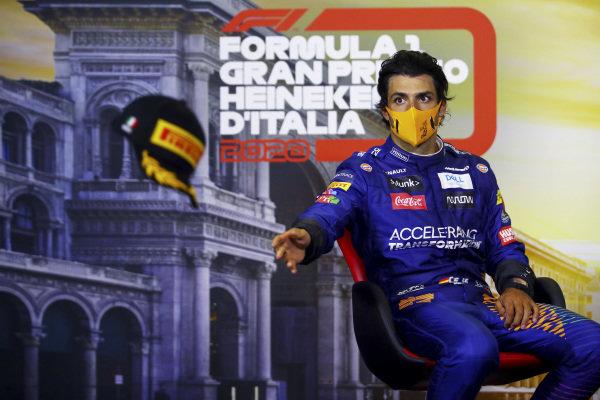 Carlos Sainz, McLaren in the press conference