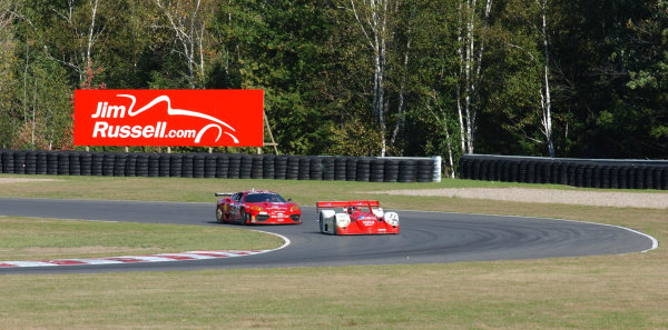 2002 Mont- Tremblant 6hr. Grand Am, Tremblant, CanadaSeptember 2002Cort Wagner in the Ferrari 360 GT follows Didier Theys in the Doran Lista Judd car hoping to make a try at a pass.C:2002, Douglas Phillips, USALAT Photographic