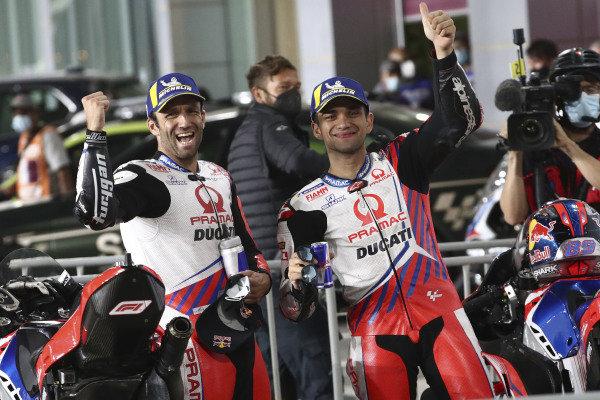 Johann Zarco, Pramac Racing, Jorge Martin, Pramac Racing parc ferme.