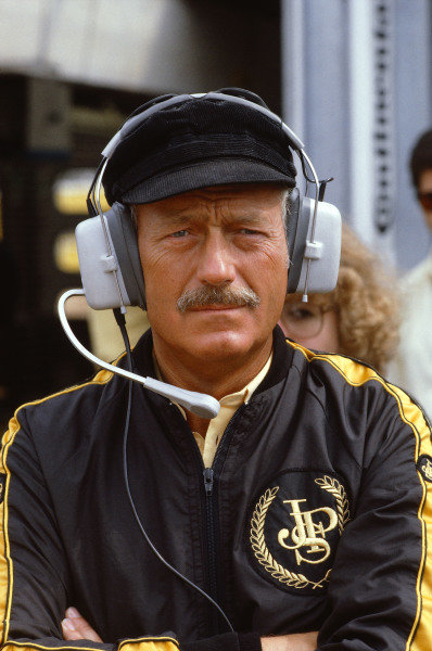 1981 German Grand Prix.Hockenheim, Germany.31/7-2/8 1981.Team Lotus boss Colin Chapman.Ref-81 GER 01.World Copyright - LAT Photographic