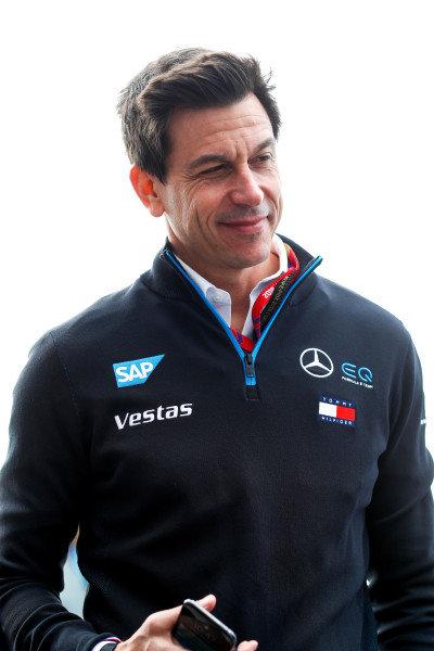 Toto Wolff, Team Principal, Mercedes AMG F1 in Mercedes Benz EQ uniform