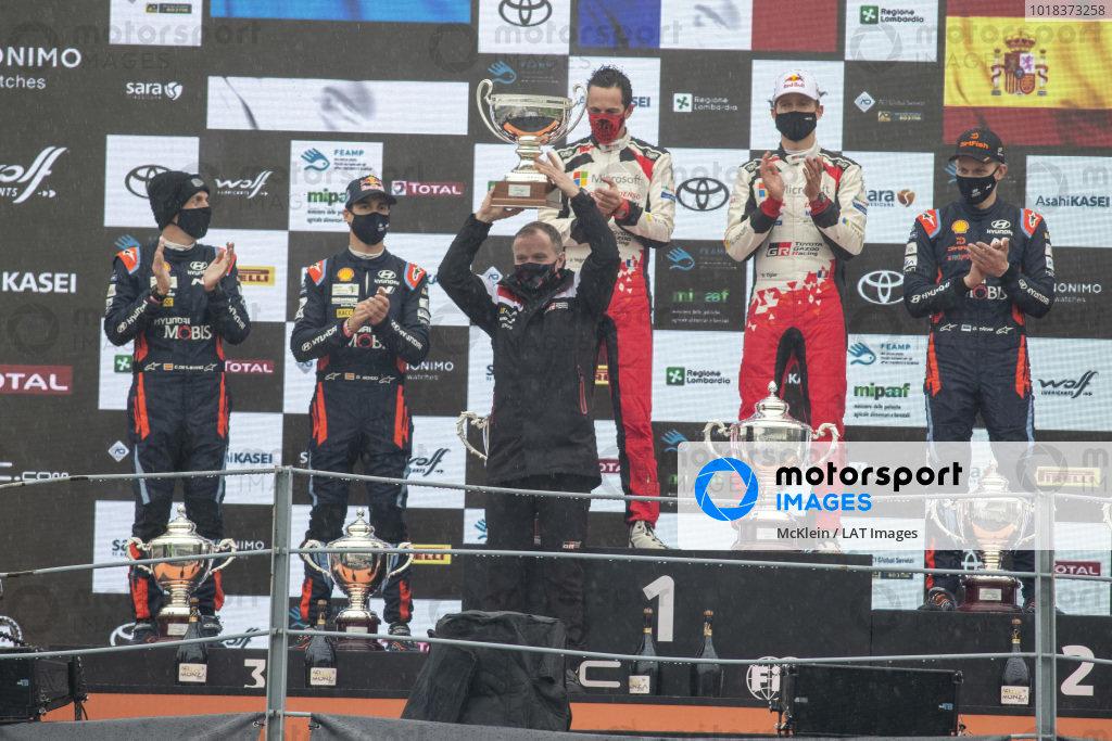Tommi Makinen (FIN), Sébastien Ogier (FRA) and Julien Ingrassia (FRA), Toyota Gazoo Racing WRT, Toyota Yaris WRC 2020