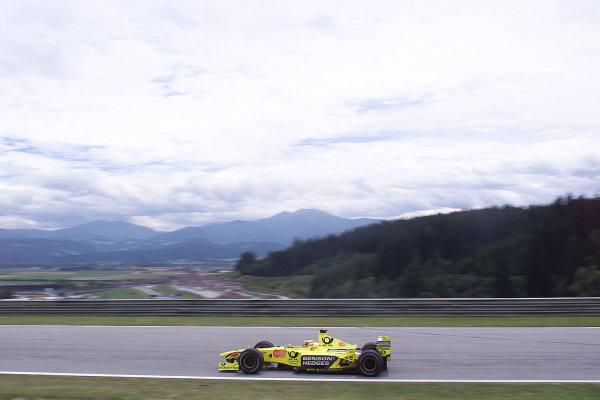 2000 Austrian Grand Prix.A1-Ring, Zeltweg, Austria.14-16 July 2000.Jarno Trulli (Jordan EJ10 Mugen Honda).World Copyright - LAT Photographic