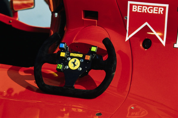 Gerhard Berger's steering wheel.