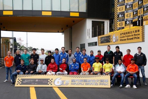 2013 Macau Formula 3 Grand Prix Circuit de Guia, Macau, China 13th - 17th November 2013  Groupshoot of all drivers World Copyright: XPB Images / LAT Photographic  ref: Digital Image 2913481_HiRes