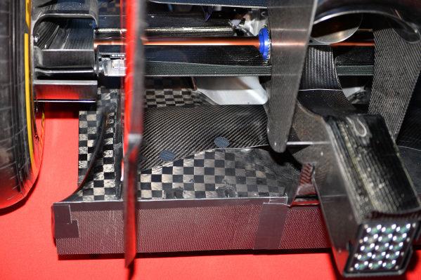 Scuderia Toro Rosso STR9 rear diffuser detail. Scuderia Toro Rosso STR9 Launch, Jerez, Spain, Monday 27 January 2014.