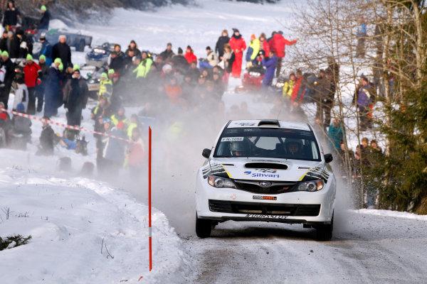 Round 02 - Rally Sweden 09-12 February 2012. Mikko Pajunen, Subaru PWRC, Action.  Worldwide Copyright: McKlein/LAT