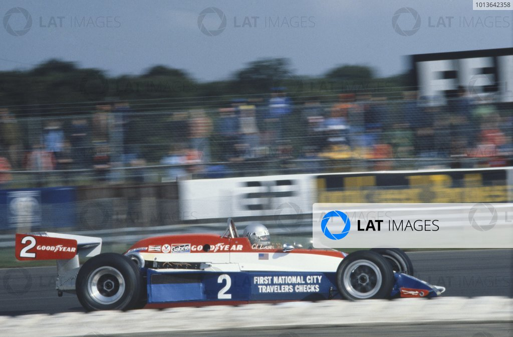 Silverstone, Great Britain. 1st October 1978.Al Unser, (Lola T500-Cosworth), 10th position, action. World Copyright: LAT Photographic.Ref: Colour Transparency.