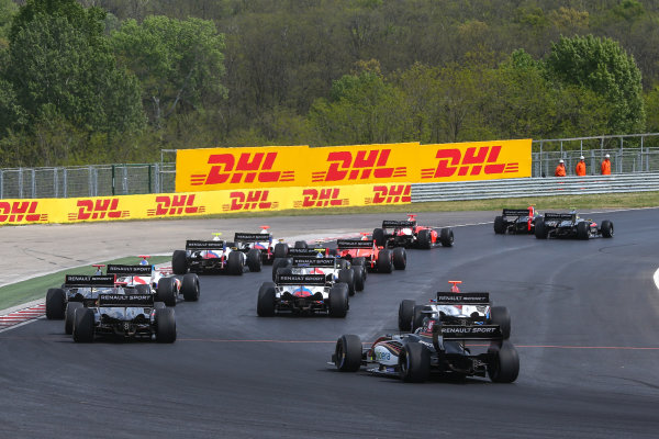 BUDAPEST (HUN) APR 22-24 2016 - Second round of the Formula V8 3.5 at the Hungaroring. Start of Race 1. Action. © 2016 Diederik van der Laan  / Dutch Photo Agency / LAT Photographic