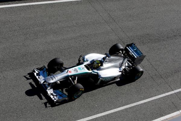 Circuito de Jerez, Jerez de la Frontera, Spain, 4th February 2013 Nico Rosberg in the new Mercedes W04. World Copyright: Alastair Staley/LAT Photographic ref: _R6T6972