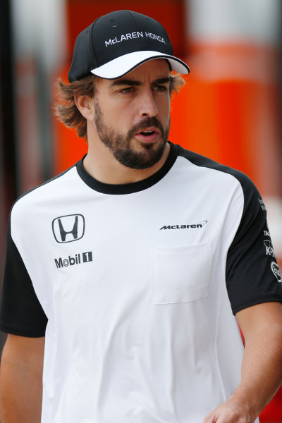 Silverstone Circuit, Northamptonshire, England. Friday 3 July 2015. Fernando Alonso, McLaren. World Copyright: Alastair Staley/LAT Photographic ref: Digital Image _79P0794