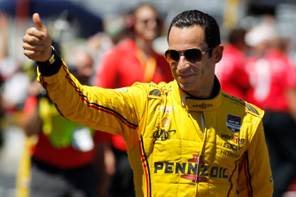 23  May, 2014, Indianapolis, Indiana, USA Helio Castroneves ©2014, Ernie Masche LAT Photo USA