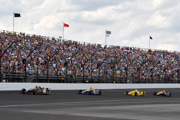29 May, 2016, Indianapolis, Indiana, USA Alex Tagliani, Alexander Rossi, Helio Castroneves, James Hinchcliffe ?2016, Scott R LePage  LAT Photo USA