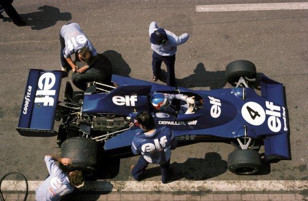 Patrick Depailler (FRA) Tyrrell 007 finished ninth.Dutch Grand Prix, Zandvoort, 22 June 1975.BEST IMAGE