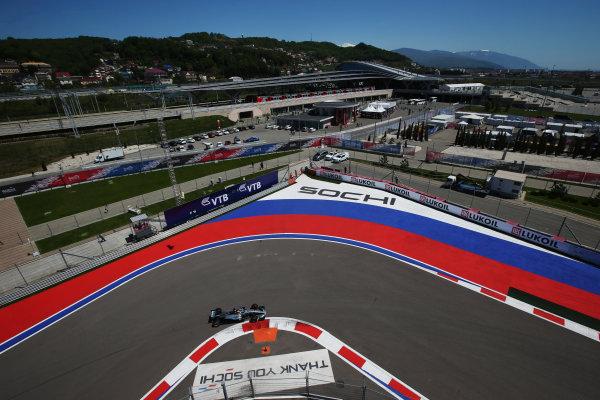 Sochi Autodrom, Sochi, Russia. Friday 28 April 2017. Lewis Hamilton, Mercedes F1 W08 EQ Power+.  World Copyright: Charles Coates/LAT Images ref: Digital Image AN7T0161