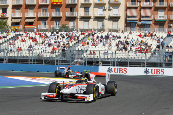 Valencia Street Circuit, Valencia, Spain.  24th June 2012. Sunday Race. Tom Dillmann (FRA, Rapax). Action. Photo: Andrew Ferraro/GP2 Media Service. Ref: Digital Image _Q0C9875.jpg