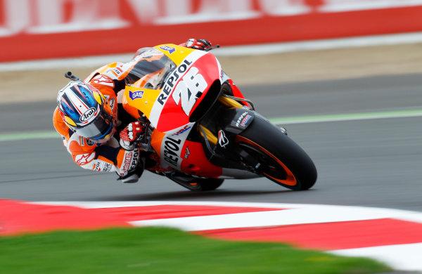 2014 MotoGP Championship  British Grand Prix.  Silverstone, England. 29th - 30st August 2014.  Dani Pedrosa, Honda.  Ref: _W1_5517. World copyright: Kevin Wood/LAT Photographic