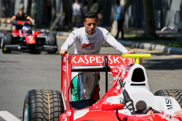 2017 FIA Formula 2 Round 4. Baku City Circuit, Baku, Azerbaijan. Friday 23 June 2017. Antonio Fuoco (ITA, PREMA Racing)  Photo: Zak Mauger/FIA Formula 2. ref: Digital Image _56I6625