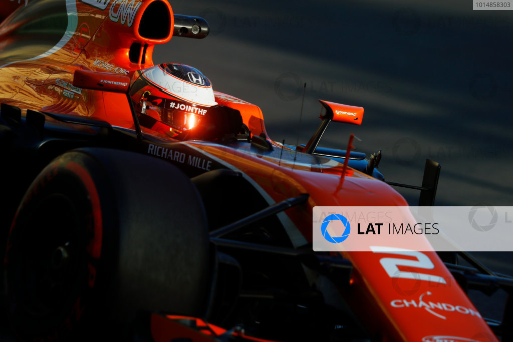 Baku City Circuit, Baku, Azerbaijan. Friday 23 June 2017. Stoffel Vandoorne, McLaren MCL32 Honda.  World Copyright: Steven Tee/LAT Images ref: Digital Image _O3I1615