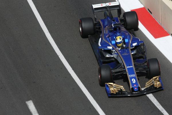 Baku City Circuit, Baku, Azerbaijan. Friday 23 June 2017. Marcus Ericsson, Sauber C36 Ferrari. World Copyright: Charles Coates/LAT Images ref: Digital Image AX0W5832