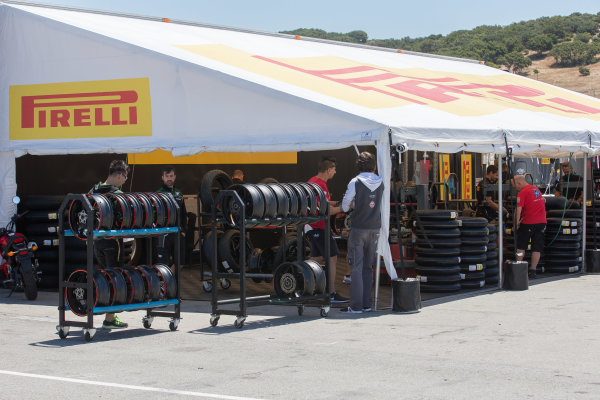 2017 Superbike World Championship - Round 8 Laguna Seca, USA. Friday 7 July 2017 Pirelli tyres World Copyright: Gold and Goose/LAT Images ref: Digital Image 682927
