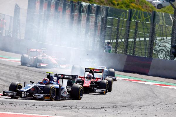 Red Bull Ring, Spielberg, Austria. Sunday 9 July 2017 Artem Markelov (RUS, RUSSIAN TIME). and Alexander Albon (THA, ART Grand Prix).  Photo: Hone/FIA Formula 2 ref: Digital Image _ONY2086