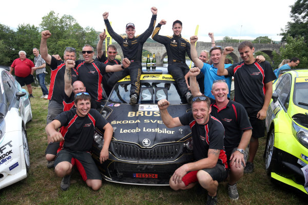 2017 British Rally Championship, Nicky Grist Stages, 8th-9th Juy 2017, Fredrik Ahlin / Torstein Eriksen Skoda Fabia R5 World copyright. JEP/LAT Images