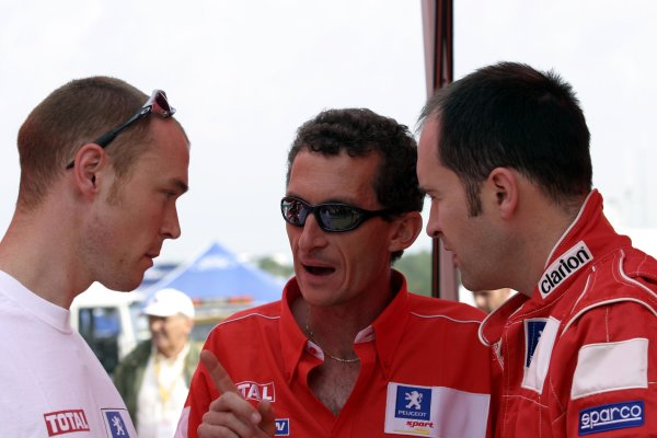 2003 FIA World Rally Champs. Round eight, Deutschland Rally 24th-27th July 2003. Richard Burns, Peugeot, portrait. World Copyright: McKlein/LAT