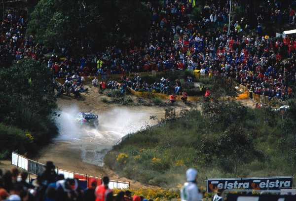 2003 World Rally ChampionshipRally Australia. 3rd - 7th September 2003Petter Solberg/Philip Mills (Subaru Impreza WRC 2003), action.World Copyright: McKlein/LAT Photographicref: 35mm Image A06