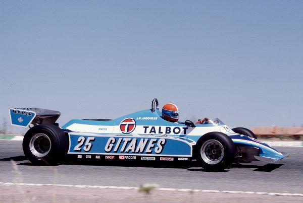 1981 Spanish Grand Prix.Jarama, Spain.29-31 May 1981.Jean-Pierre Jabouille (Ligier JS17 Matra).Ref-81 ESP 39.World Copyright - LAT Photographic