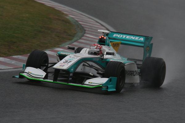 2014 Super Formula Series. Suzuka, Japan. 9th - 10th November 2014. Rd 7. Race 2 - Winner Kazuki Nakajima ( #37 TEAM TOM'S SF14 )  action World Copyright: Yasushi Ishihara / LAT Photographic. Ref:  2014_SF_Rd7_016.JPG