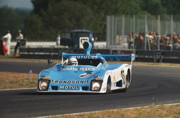 Le Mans, France. 14-15 June 1975 Laurent Ferrier/Xavier Lapeyre/Christian Ethuin (Lola T294 Roc), retired, action. World Copyright: LAT PhotographicRef: 75LM18.