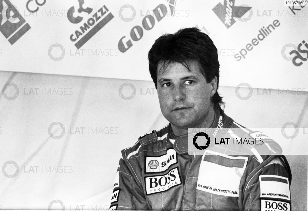 Magny-Cours, France. 2-4 July 1993.Michael Andretti (McLaren MP4/8-Ford), 6th position, portrait.World Copyright: LAT Photographic.Ref: 93 - 638 - 5-5A.