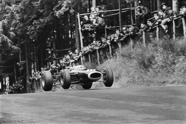 1965 German Grand Prix. Nurburgring, Germany. 1st August 1965. Jackie Stewart, (BRM P261), retired, action. World Copyright: LAT Photographic. Ref: L65 - 395 - 3.