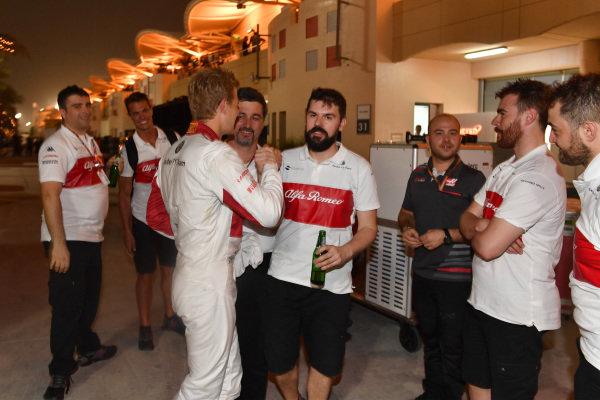 Marcus Ericsson (SWE) Alfa Romeo Sauber F1 Team celebrates