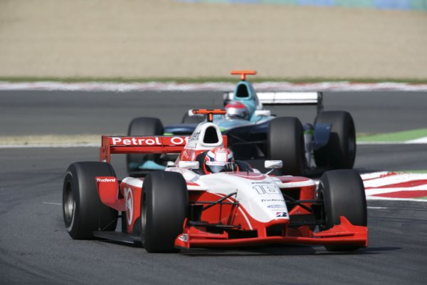 2006 GP2 Series. Round 7 . Magny-Cours, France. 16th July.Sunday Race Giorgio Pantano (ITA, FMS International). Action.   World Copyright: Charles CoatesGP2 Series Media Service. ref: Digital Image ZK5Y9415