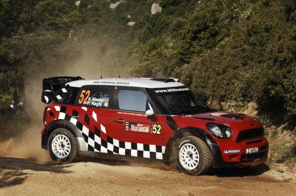 Kris Meeke (GBR), Mini John Cooper Workds, on the shakedown stage.