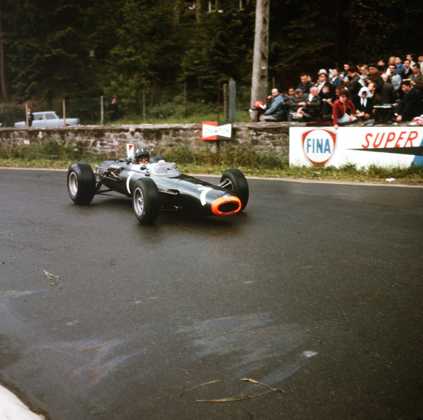 Spa-Francorchamps, Belgium.11-13 June 1965.Graham Hill (BRM P261) 5th position.Ref-3/1703AWorld Copyright - LAT Photographic