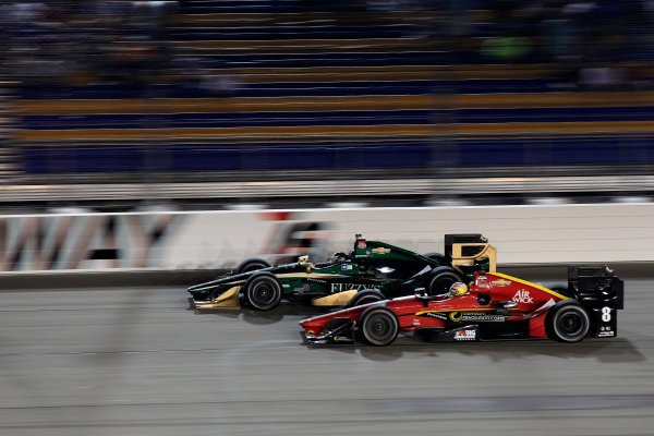 17-18 July, 2015, Newton, Iowa USA Ed Carpenter battles Sage Karam ?2015, Phillip Abbott LAT Photo USA