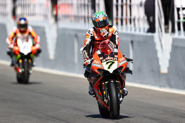 Chaz Davies, ARUBA.IT Racing Ducati, Michael Ruben Rinaldi, Team Goeleven.