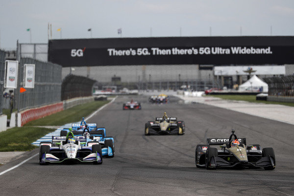 Sebastien Bourdais, Dale Coyne Racing with Vasser-Sullivan Honda, James Hinchcliffe, Arrow Schmidt Peterson Motorsports Honda