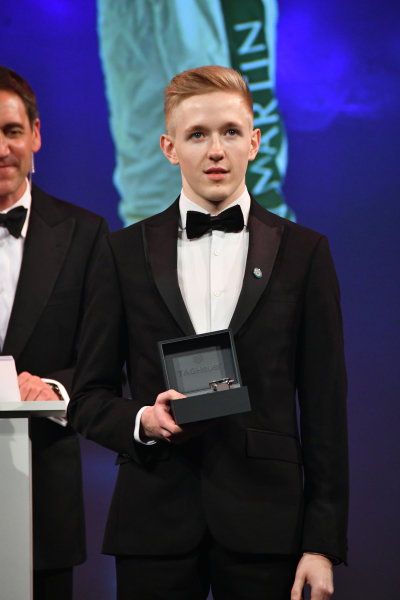 BRDC Racing Driver of the Year nominee Johnathan Hoggard with his watch