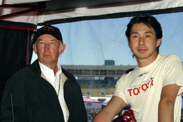 2003 Phoenix IRL IndyCar, 21-23 March 2003; Phoenix International Raceway; Phoenix, Arizona USAMo Nunn and Tora Takagi-2003 Lesley Ann Miller, USALAT Photographic