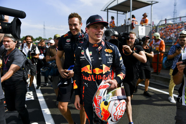 Ple Sitter Max Verstappen, Red Bull Racing celebrates in parc ferme