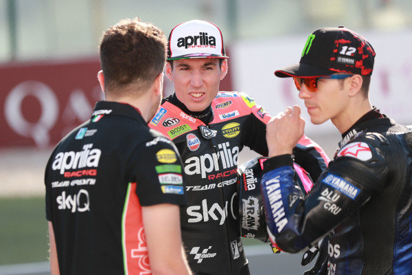 Aleix Espargaro, Aprilia Racing Team Gresini, Maverick Vinales, Yamaha Factory Racing.