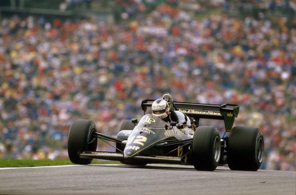 Osterreichring, Zeltweg, Austria.17-19 August 1984.Nigel Mansell (Lotus 95T Renault) retired with an engine problem.Ref-84 AUT 04.World Copyright - LAT Photographic