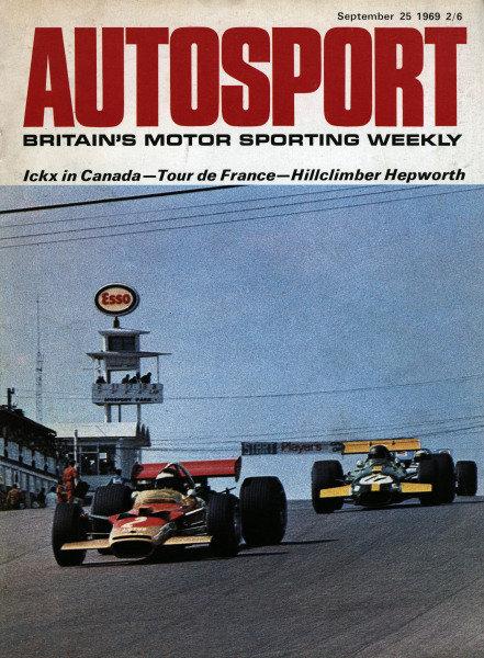 Cover of Autosport magazine, 25th September 1969