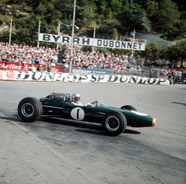 Monte Carlo, Monaco.28-30 May 1965.Jack Brabham (Brabham BT11 Climax).Ref-3/1639.World Copyright - LAT Photographic