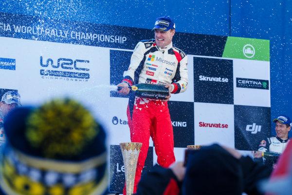 2017 FIA World Rally Championship, Round 02, Rally Sweden, February 09-12, 2017, Jari Matti Latvala, Toyota, Podium, Worldwide Copyright: McKlein/LAT