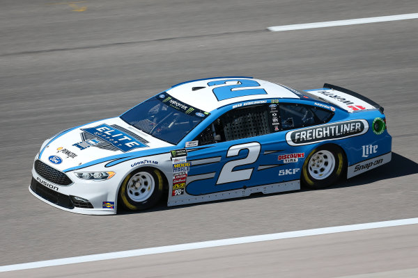 Monster Energy NASCAR Cup Series Go Bowling 400 Kansas Speedway, Kansas City, KS USA Friday 12 May 2017 Brad Keselowski, Team Penske, Elite Support Ford Fusion World Copyright: Barry Cantrell LAT Images ref: Digital Image 17KAN1bc1037